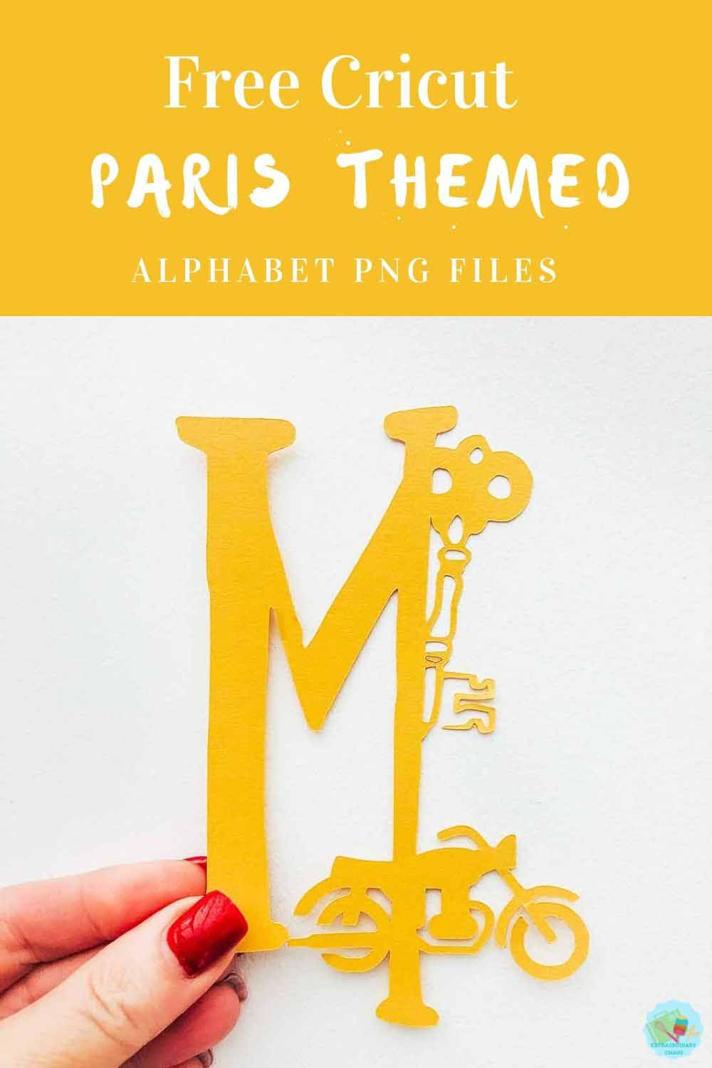 Free Cricut Paris Themed png files for Scrapbooking Layouts