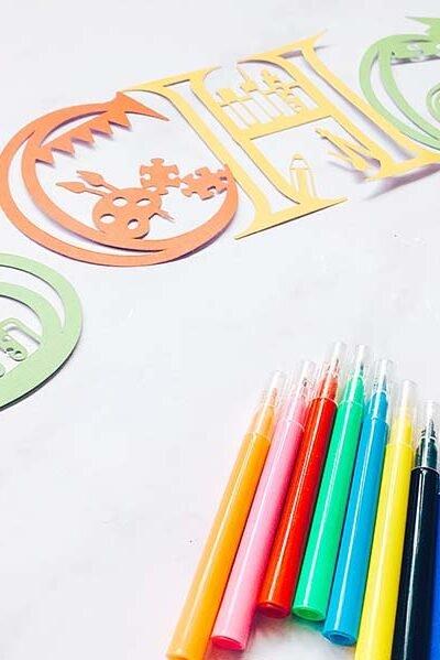Free Cricut School Alphabet designed by Sarah Christie