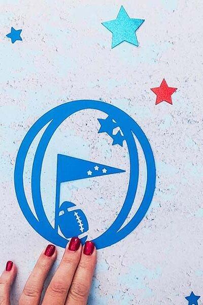 Free Cricut Super Bowl Alphabet designed by Sarah Christie