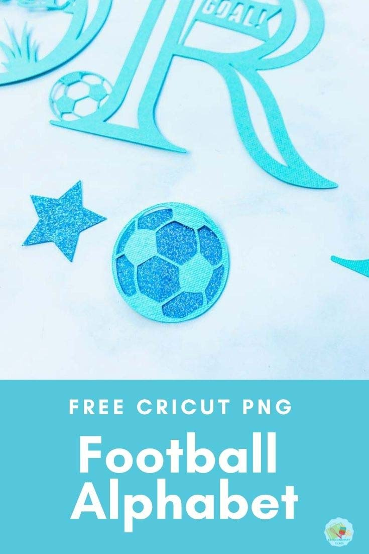 Free Football ALPHABET PNG Template For Cricut Crafts