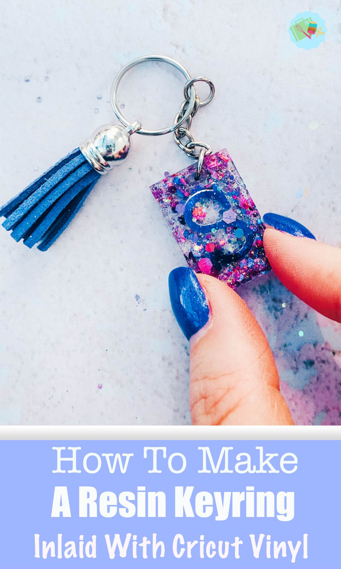 How to make a REsin Keyring inlaid with Cricut Vinyl