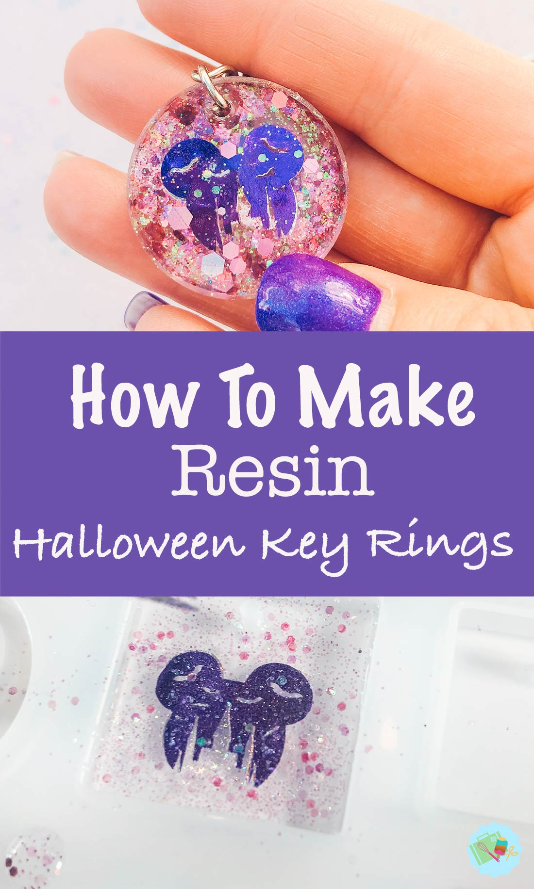 How to make resin Halloween Key rings
