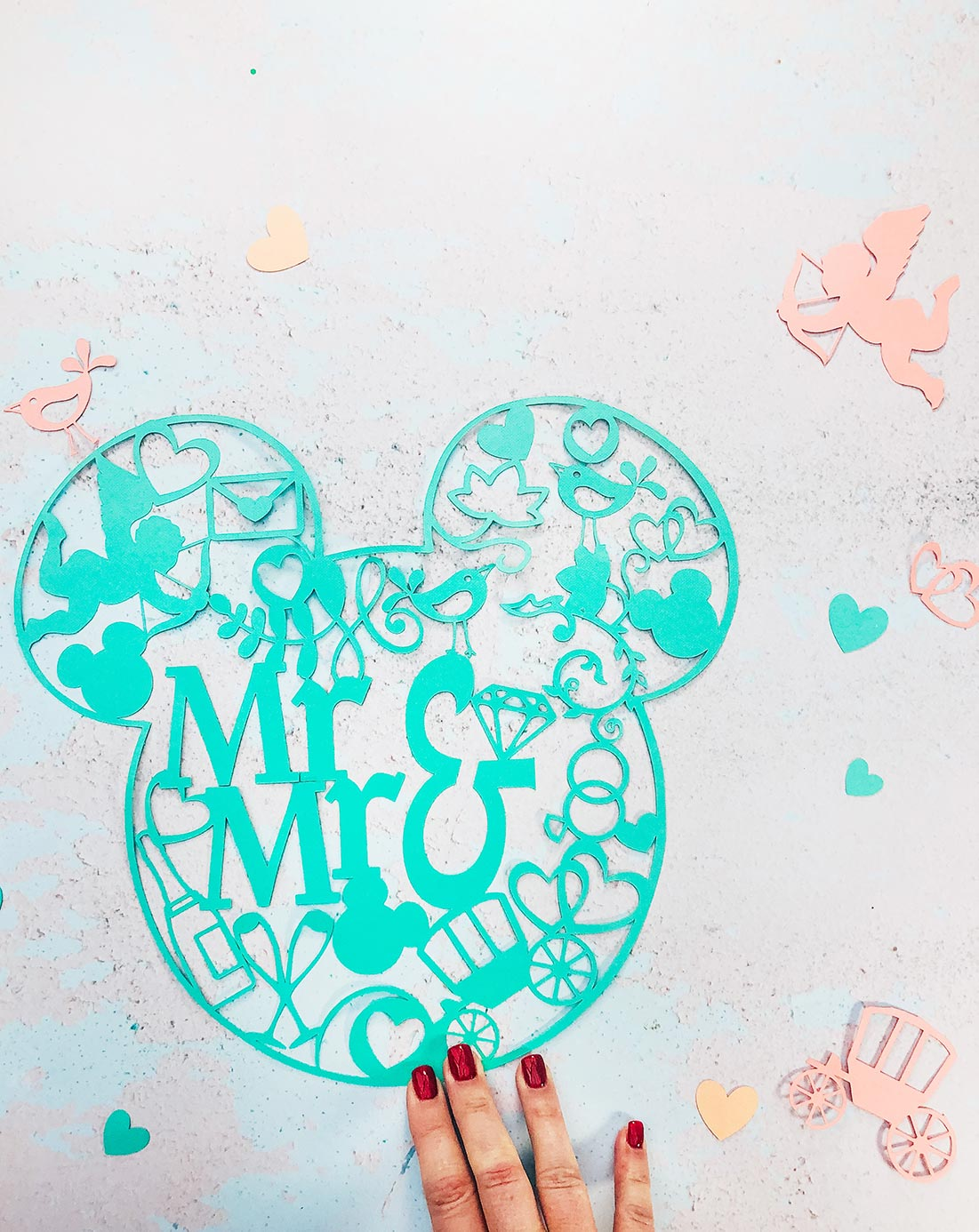 Mickey Mouse Cut File for Grooms