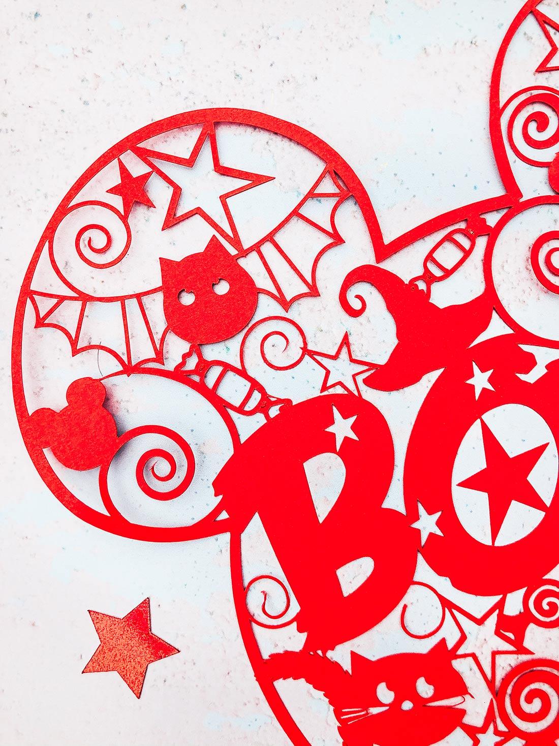 Mickey Mouse Pop Art Paper Cut