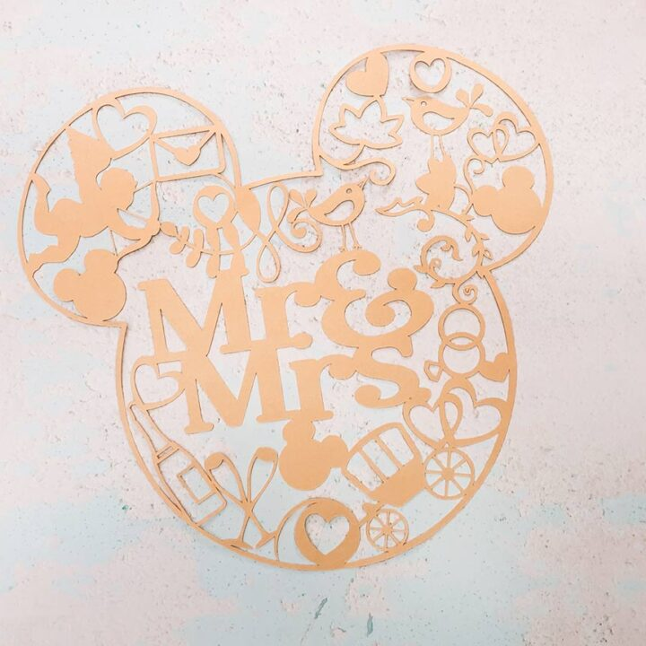 Mr and Mr Cricut Mickey Cut File for Weddings_
