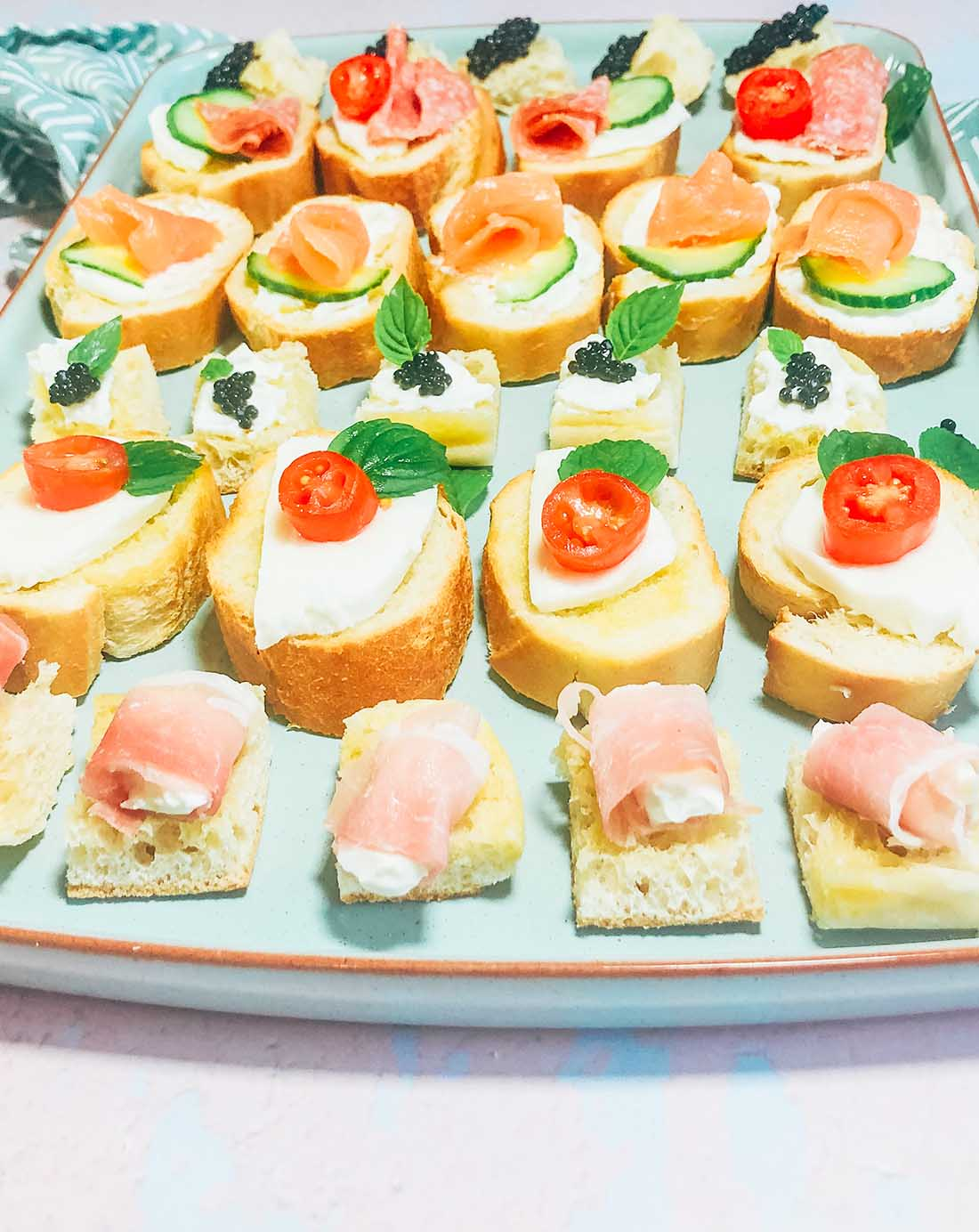 how to make quick and easy canapes for parties