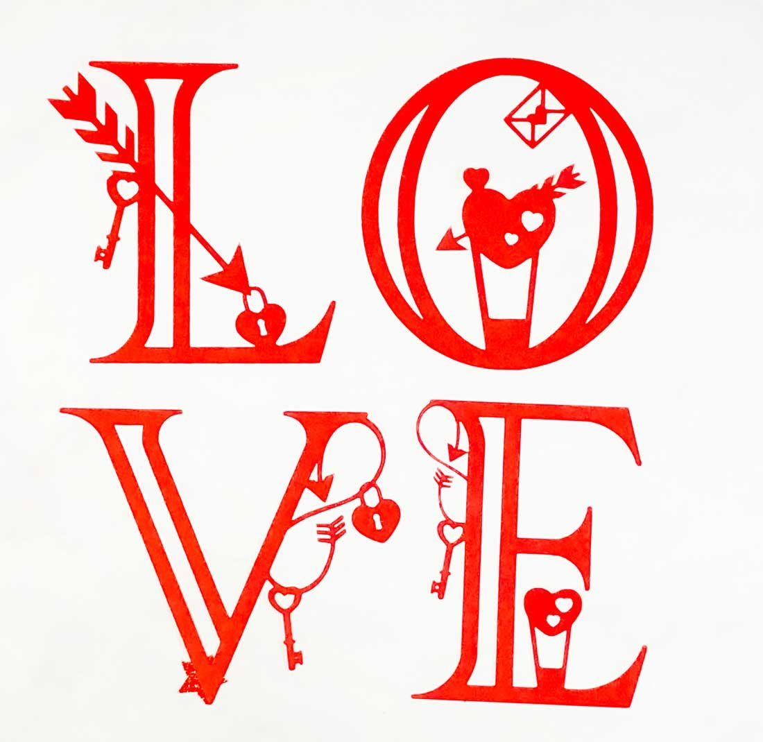Cricut Free Love letters and numbers