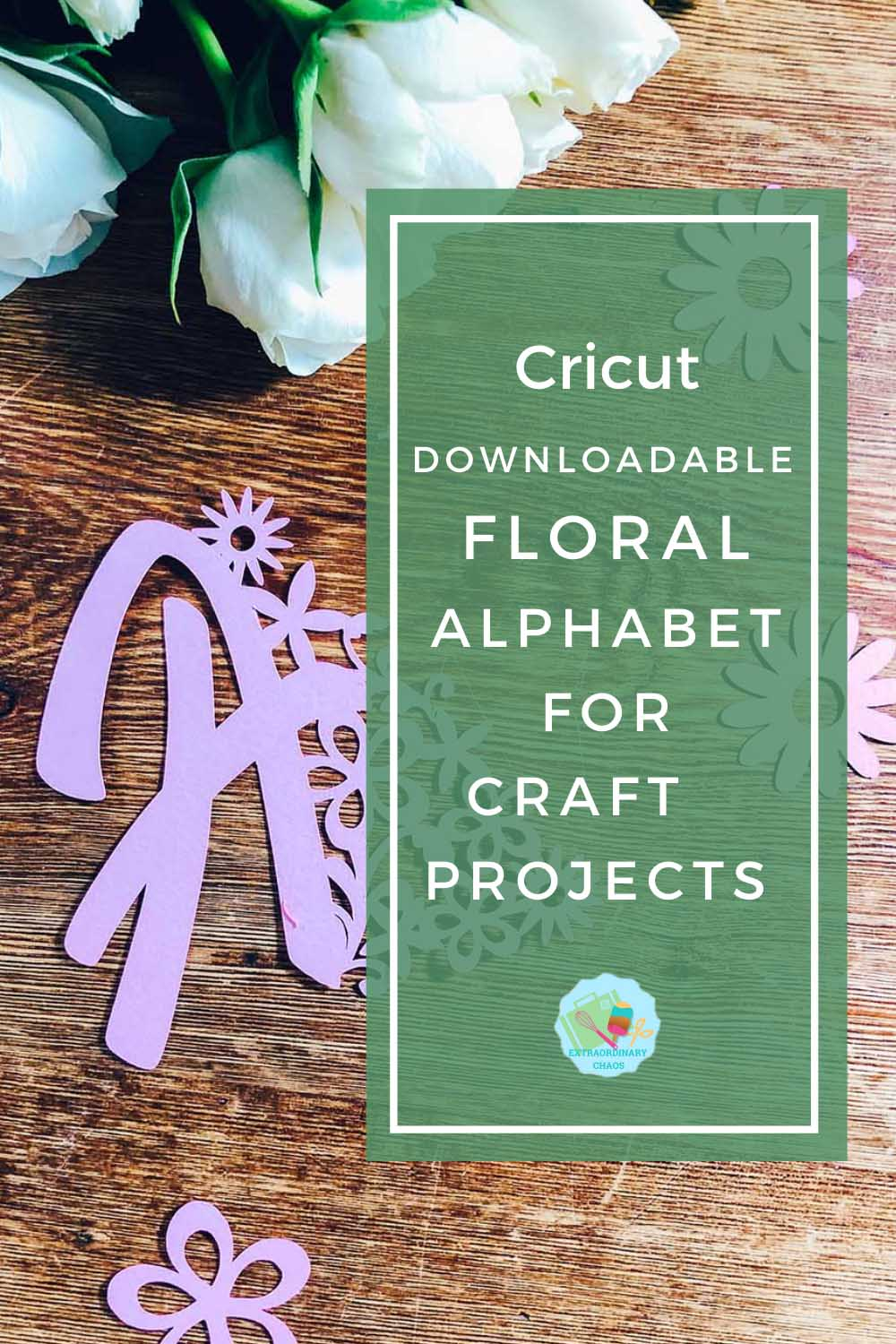 Downloadable Floral Cricut Alphabet For Crafting