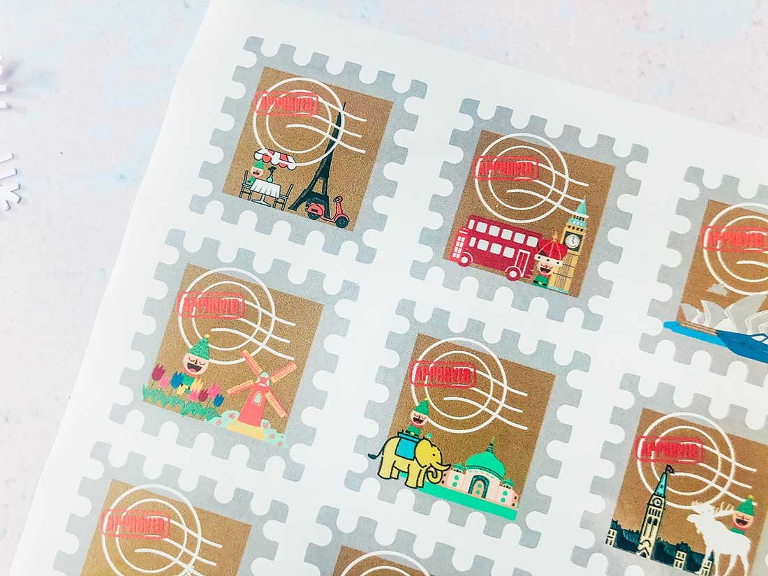 Elf on the shelf passport stamps for Elf on the shelf ideas for the travelling Elf