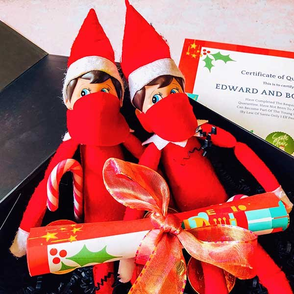 Elf on the shelf quarantine kit