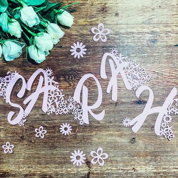 Floral Cricut Alphabet For Crafting