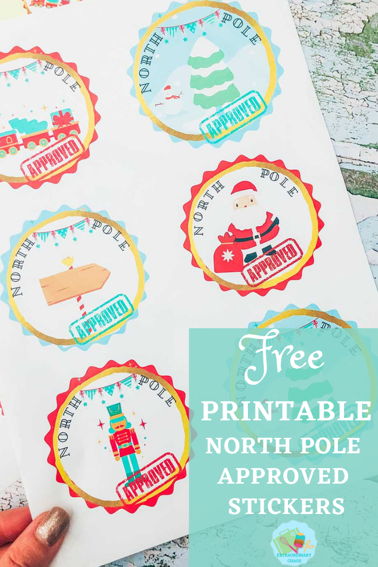 Free Cricut North Pole Approved Printable Stickers