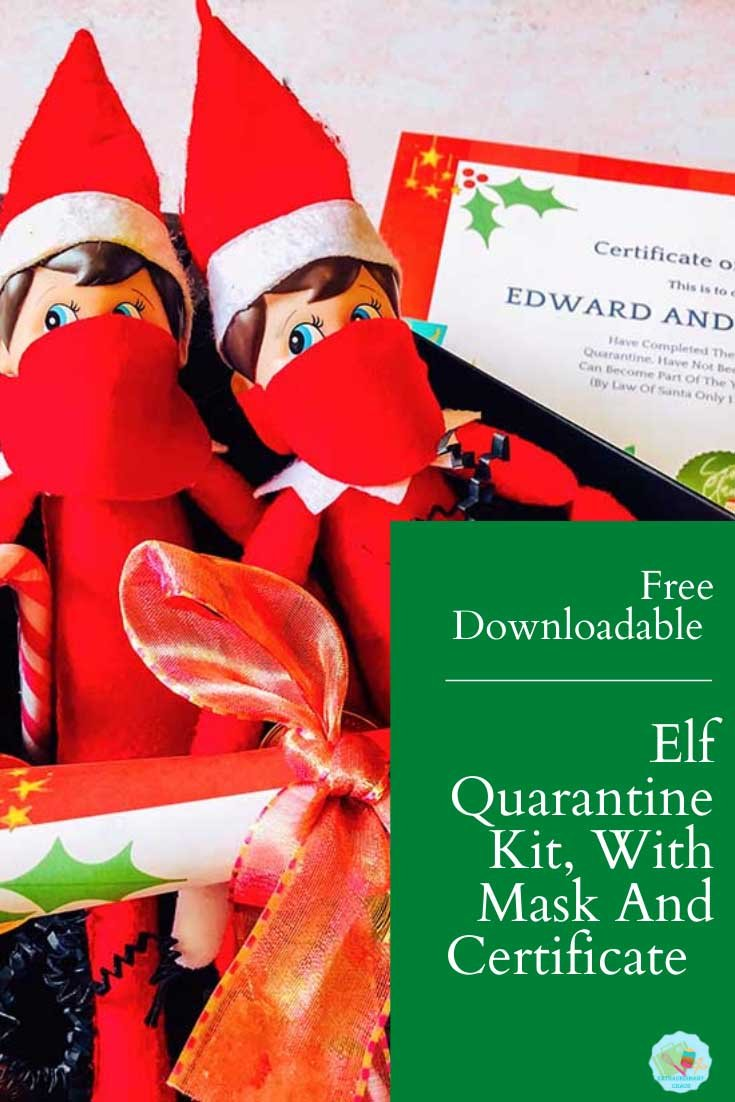 Elf On The Shelf Quarantine Kit With Face Masks Extraordinary Chaos