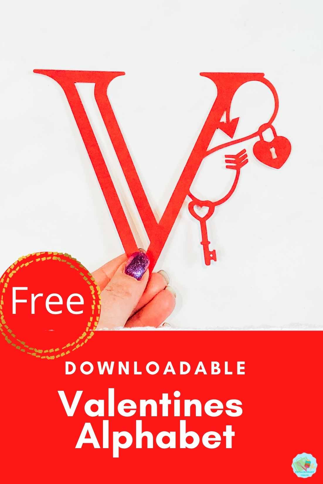 Free Downloadable Valentines Alphabet for crafting on Cricut and Silhouette