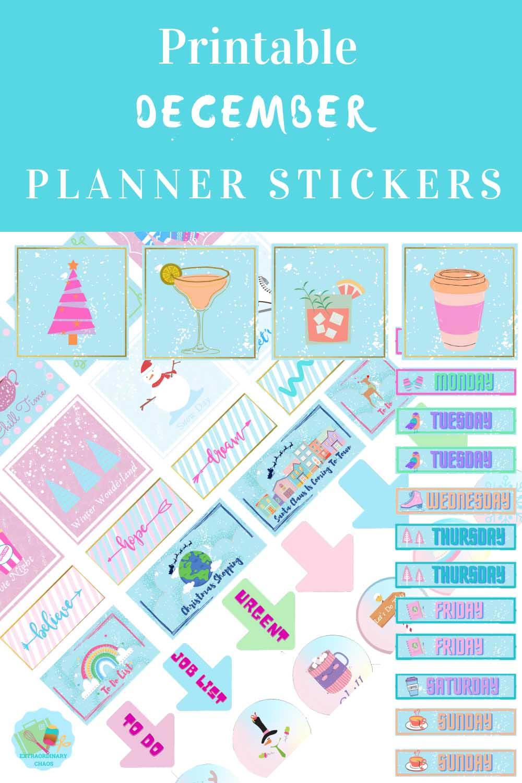 Free Printable December Planner Sticker Templates