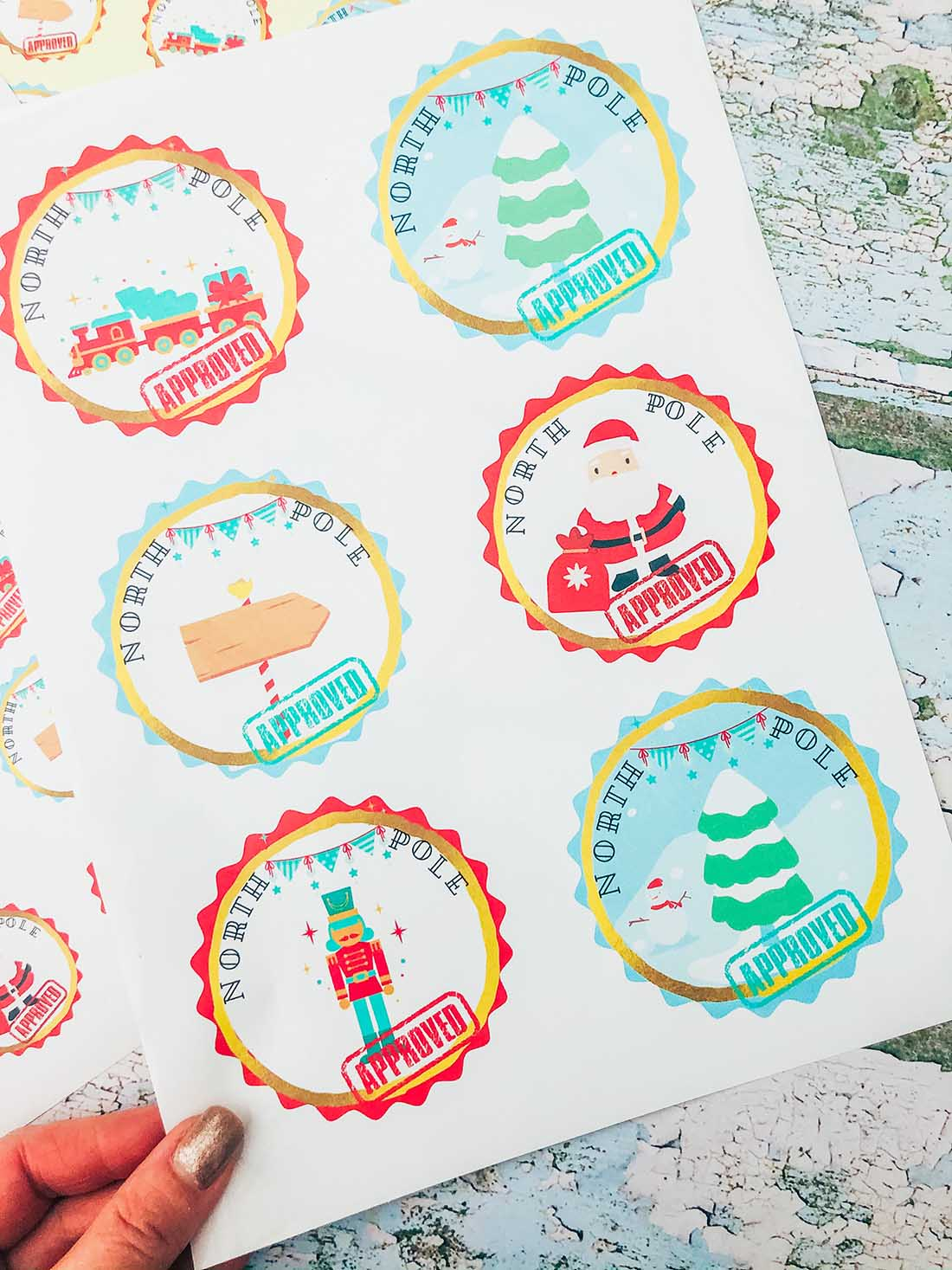 North Pole Holiday Stickers