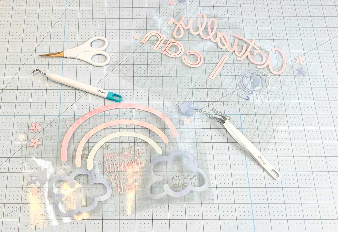 Now layer your images onto one sheet using tweezers to avoid touhing the ink