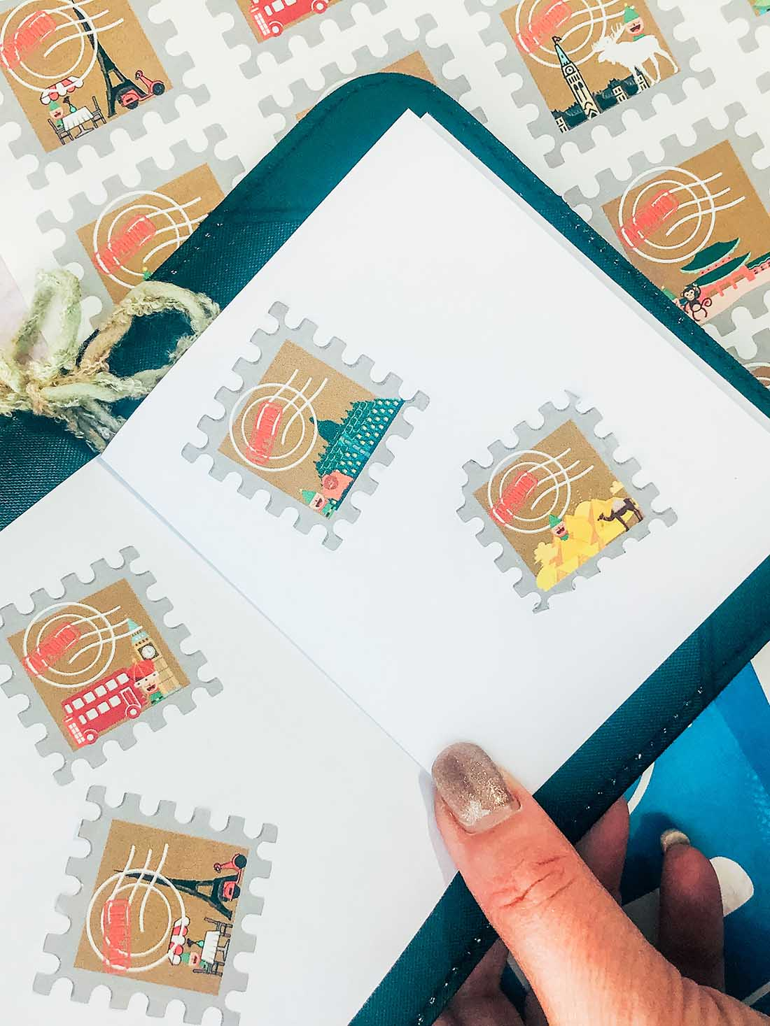 Printable Elf Passport stamps