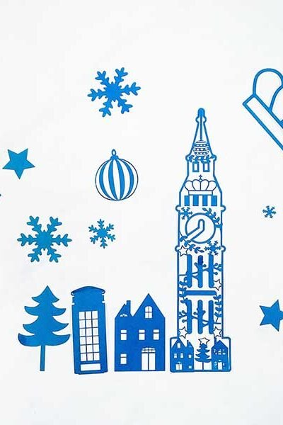 Free Downloadable Cricut Christmas Big Ben PNG Cut File for London Themed Christmas Cricut Craft Projects, home projects and scrapbooking.