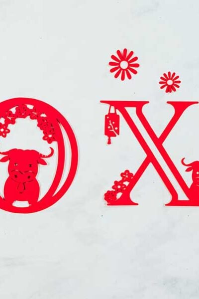 Cover Chinese New Year Alphabet For The Year Of The Ox