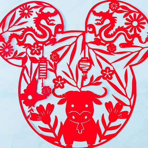 Cover Mickey Chinese New Year Cut File For Year Of The Ox