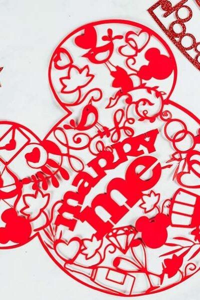 Cover Mickey Proposal Cut File For Cricut