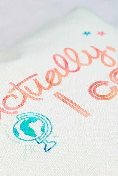 Cricut Infusible Ink Rainbow Cushion