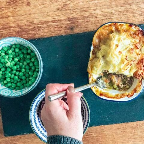 Easy Minted Lamb Shepherds pie recipe feature