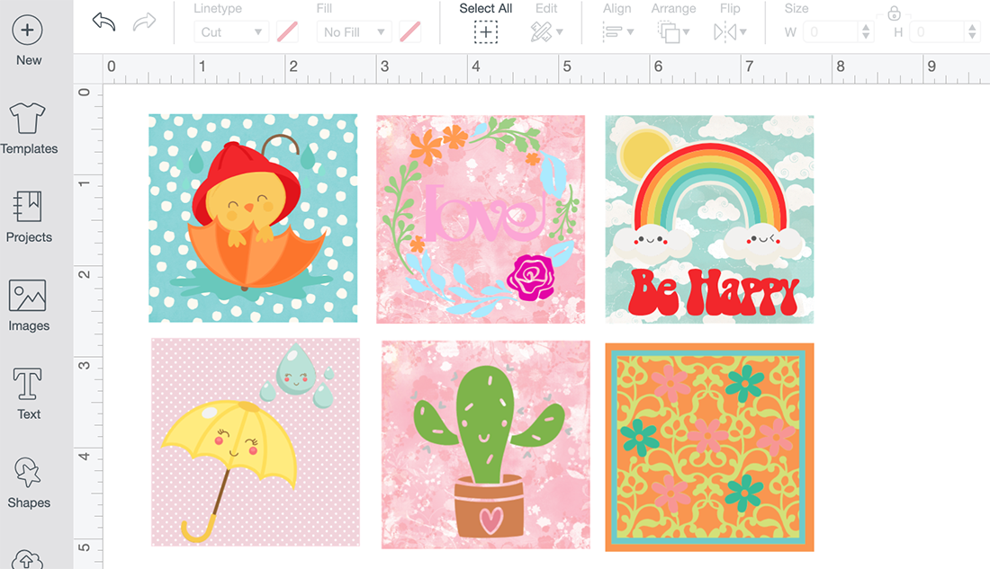 Flatten images to make Cricut print and cut stickers