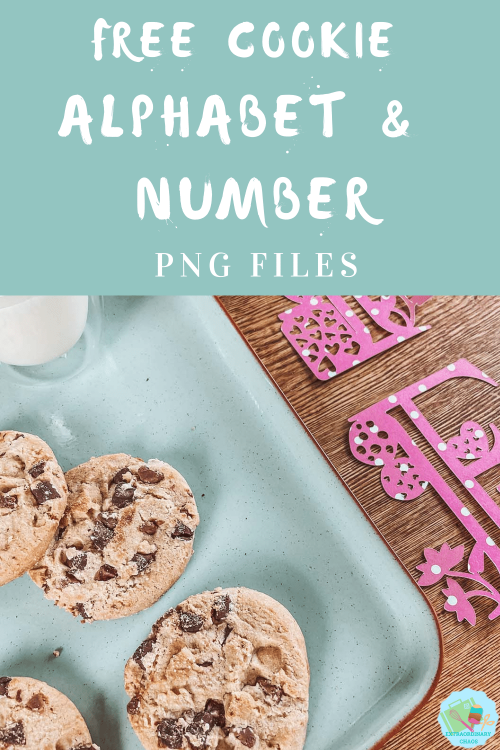 Cookie alphabet for Girl Scout crafting creating cookie themed projects