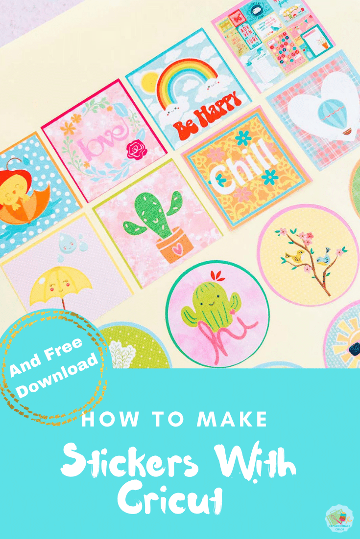 How to make Cricut Stickers with print and cut in Cricut design space
