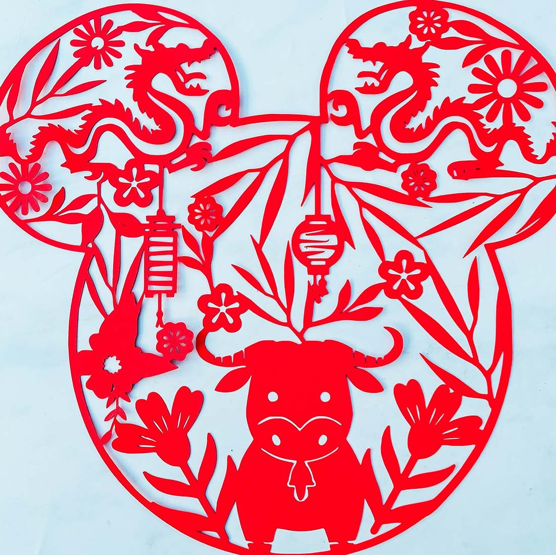 Mickey Chinese New Year Cut File For Year Of The Ox