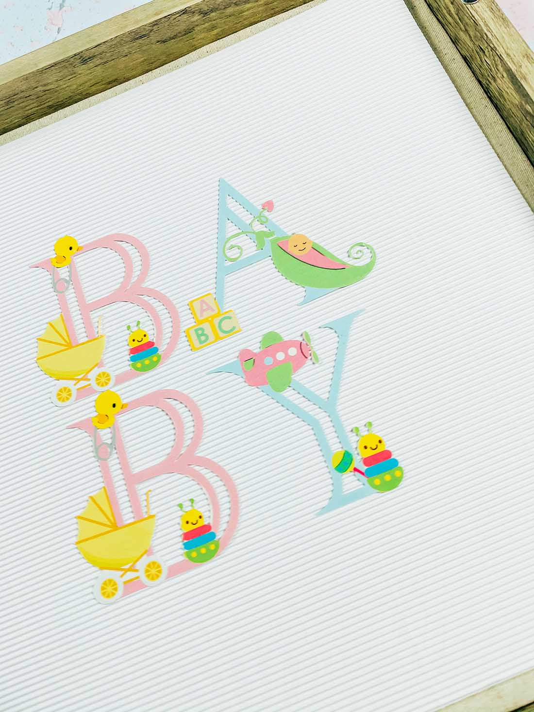 Printable baby Alphabet for creating Cricut Baby gifts