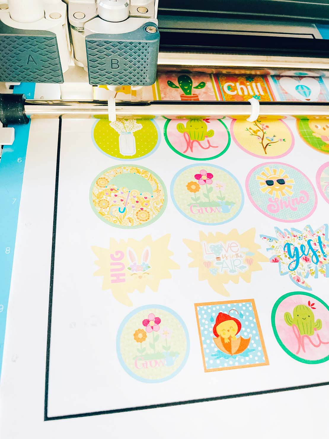 how to make stickers on Cricut with Print and cut