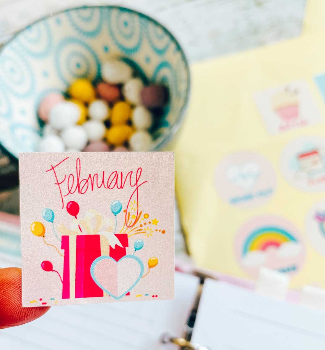 2021 planner february stickers