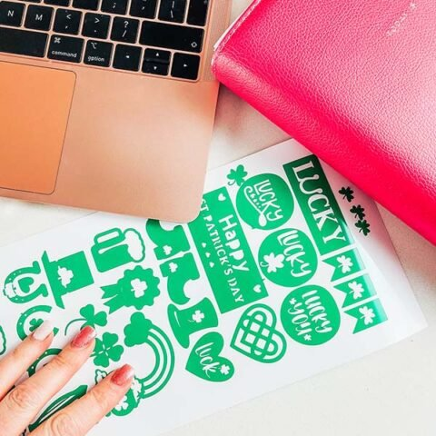 Cover Free Downloadable Cricut Joy St. Patricks Day Stickers