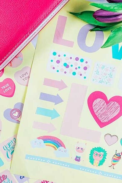 Cover Free Stickers For Valentines Scrapbooking Layouts