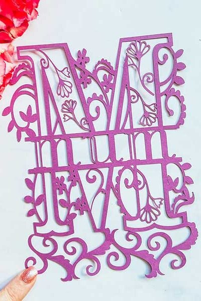 Cover Free cut file Mothers Day Split monogram cut file for Cricut