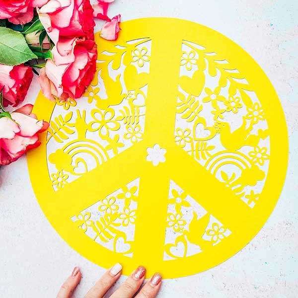 Cover peace sign cut file for Cricut or Silhouette