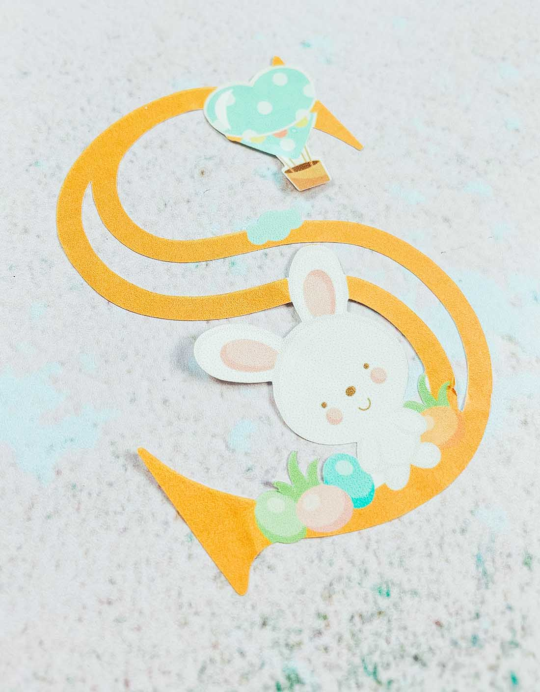 Cute Easter Alphabet dfor crafting with kids