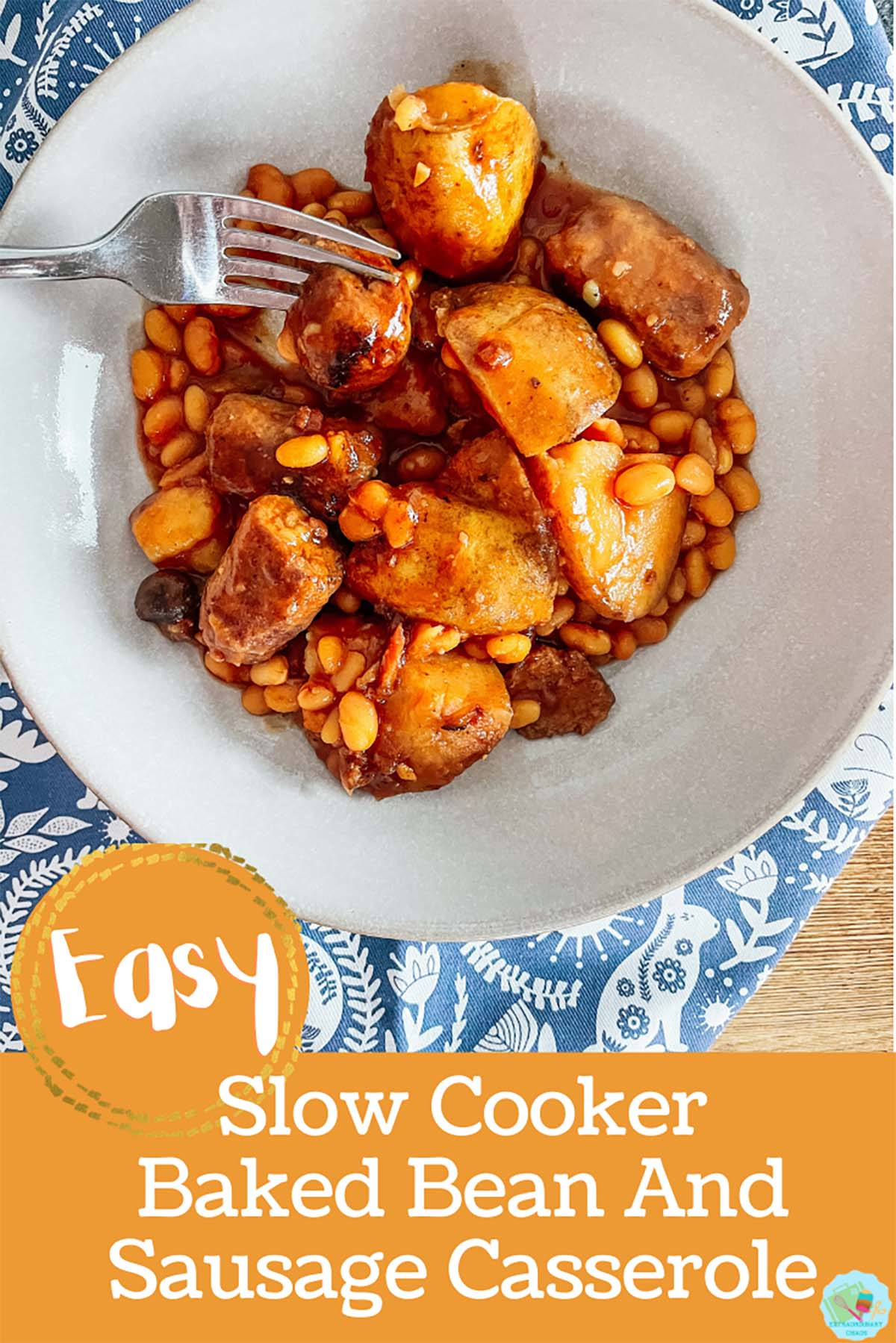 Easy to make Slow cooker Baked bean and sausage casserole-2