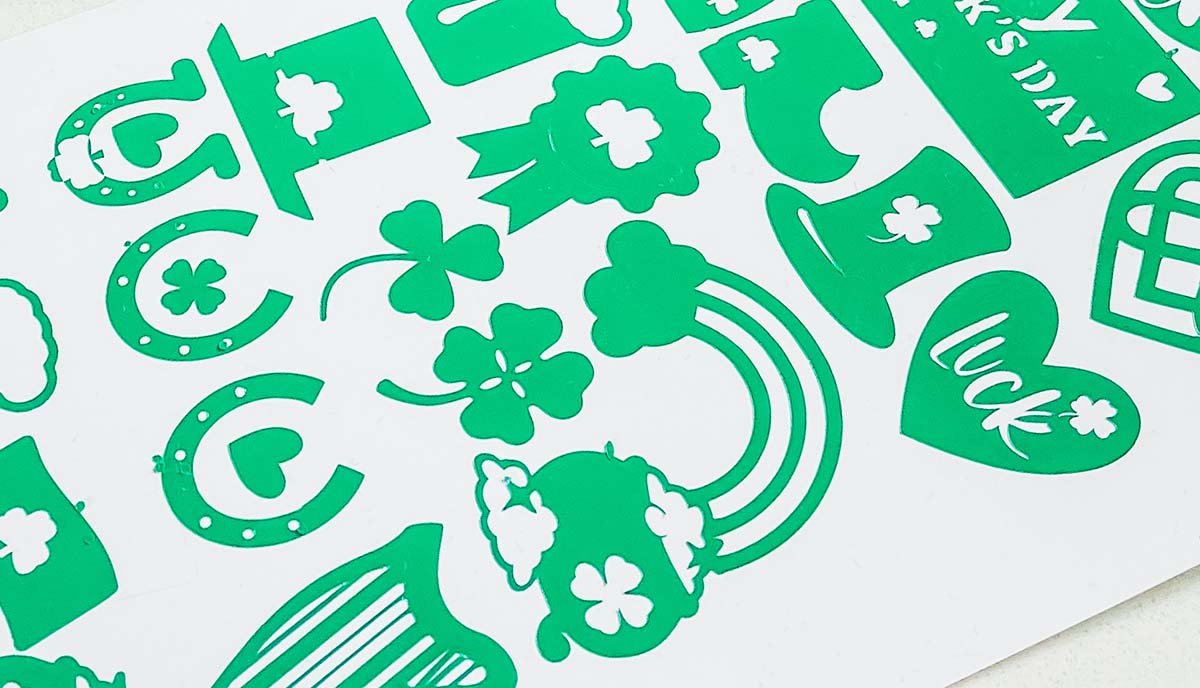 Free Cricut Joy Vinly St. Patricks Day Stickers