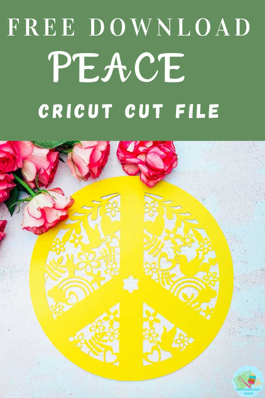 Free Cricut Peace Cricut Cut File