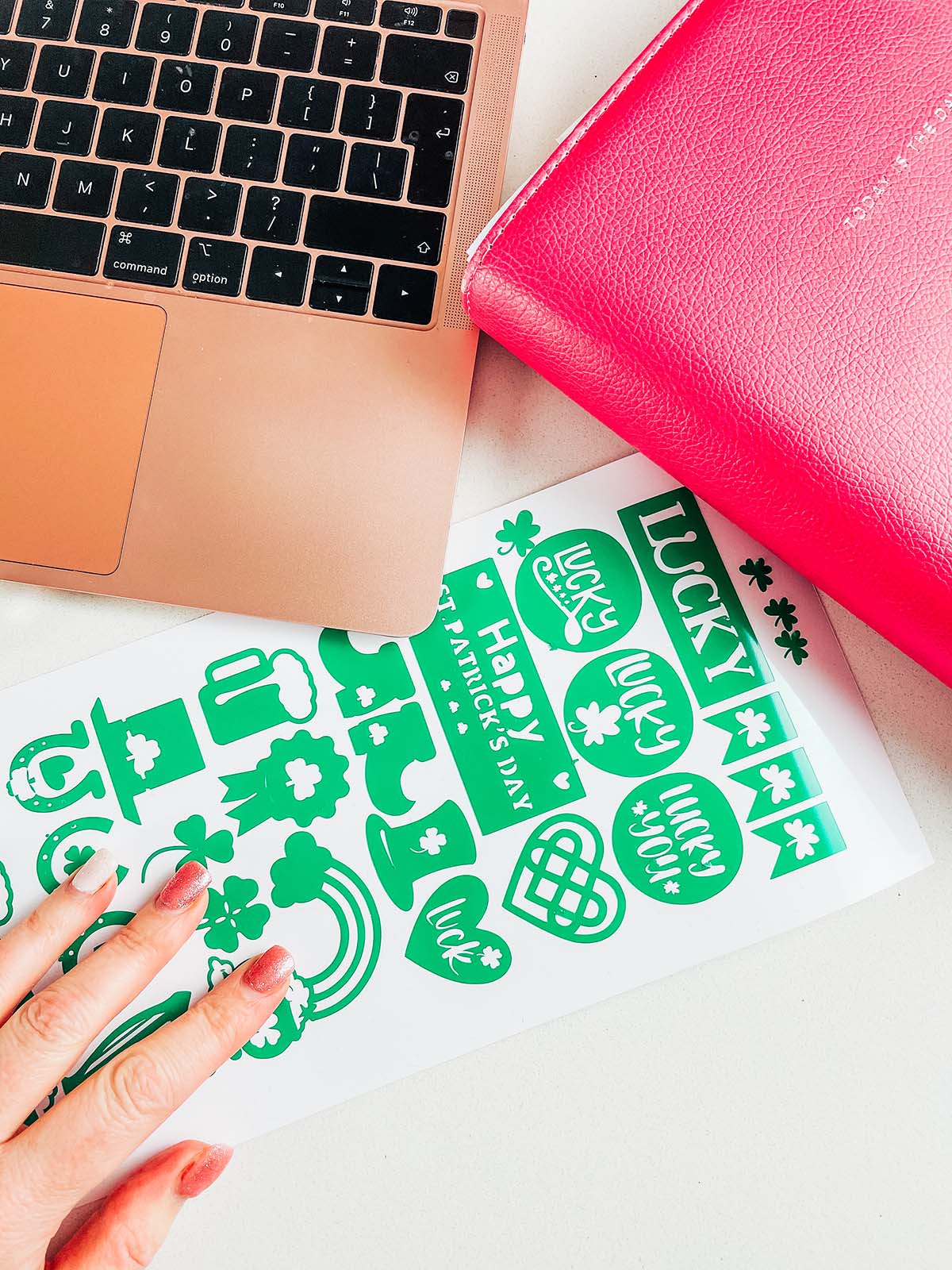 Free Downloadable Cricut Joy St. Patricks Day Stickers