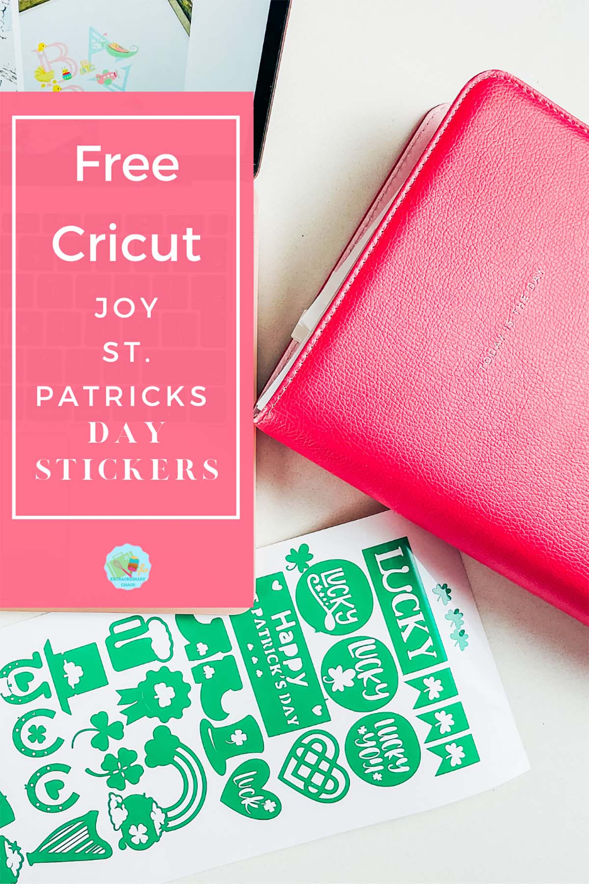 Free download for a Cricut Joy St.Patricks Day Stickers