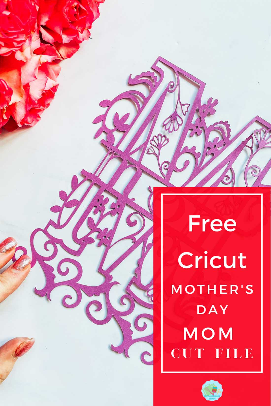 Free download for a Cricut Mom mothers day cut file for mothers day cards or scrapbooking