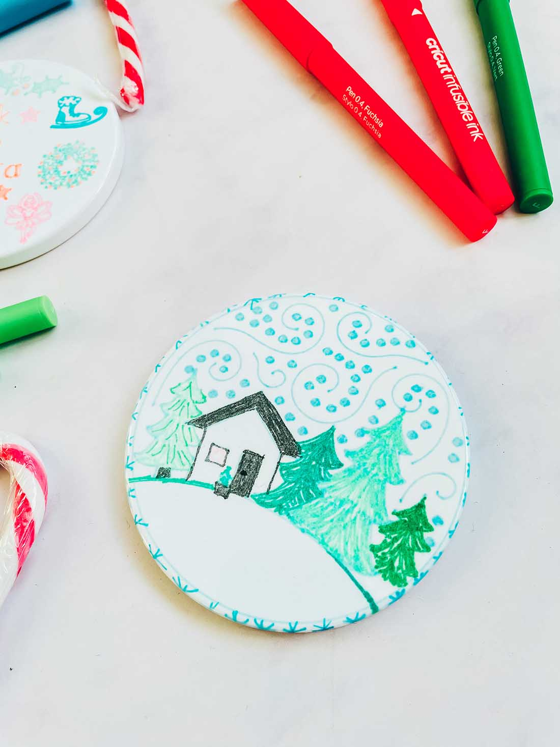 How to create coasters with Infusible ink pens