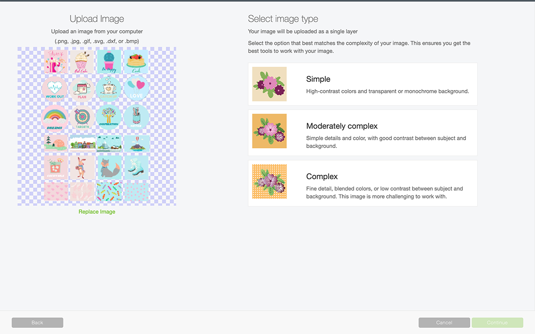 How to upload planner stickers to Cricut design space