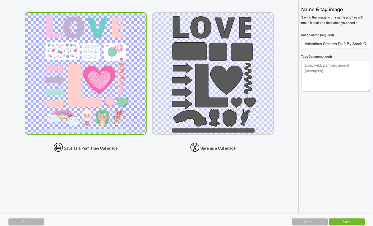 How to upload stickers to Cricut design space