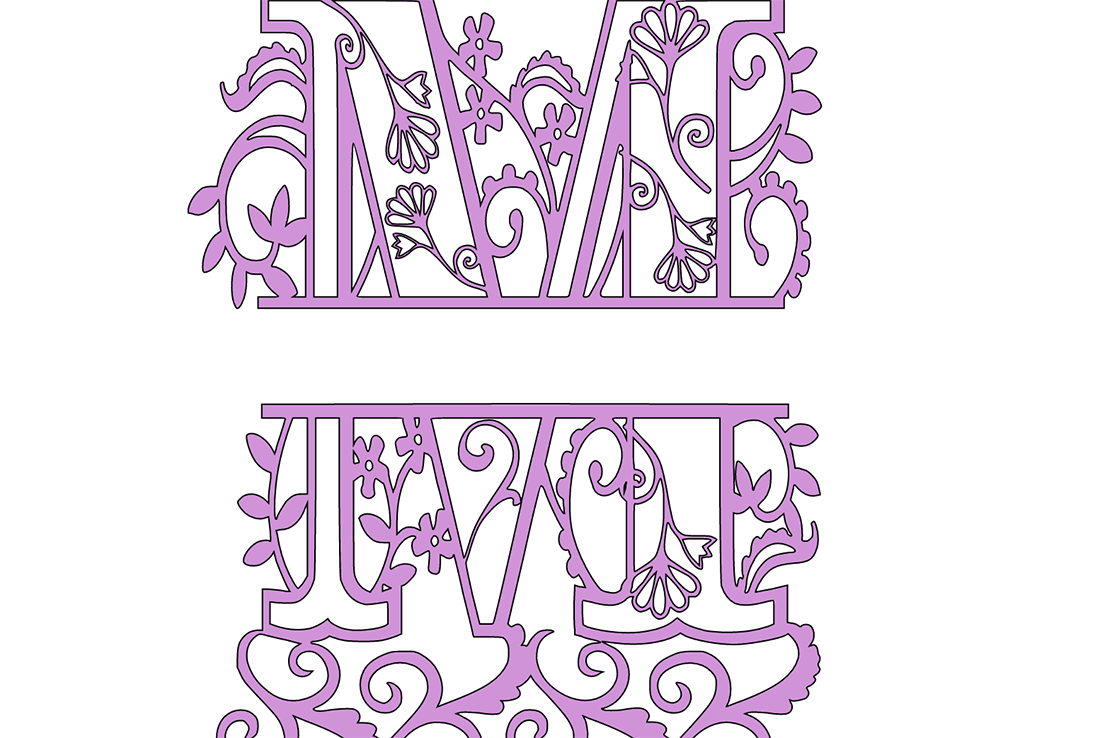 Pull both images into Cricut design space and however one above the other, leaving a gap